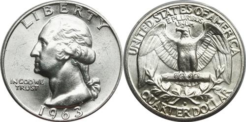 1963-D Washington Quarter Value - CoinHELP