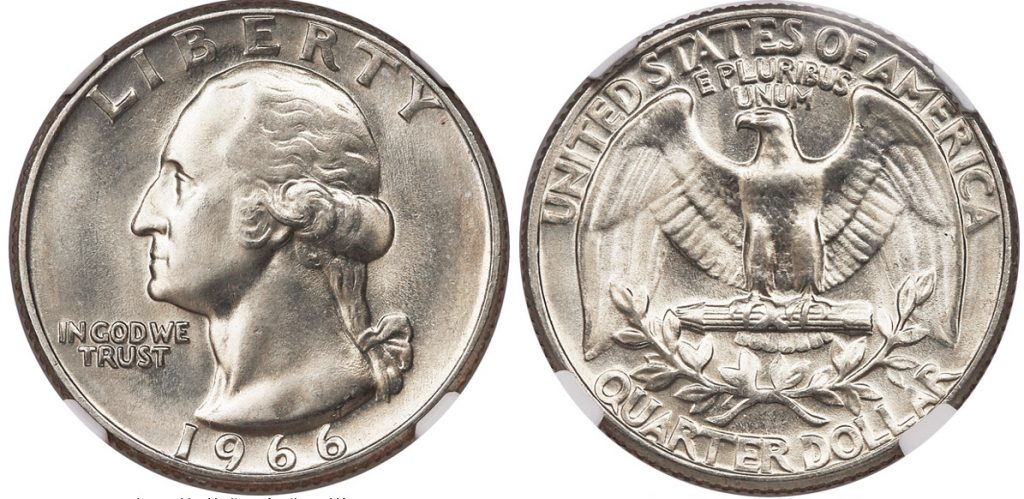 1966 Washington Quarter Value