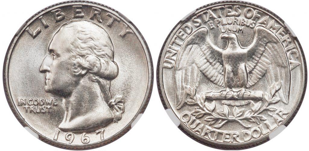 1967 Washington Quarter Value