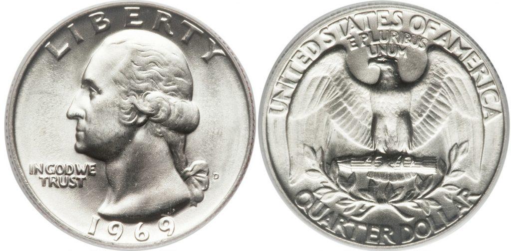 1969 P Washington Quarter Value
