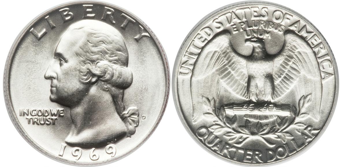 1969-P Philadelphia Mint Washington Quarter BU