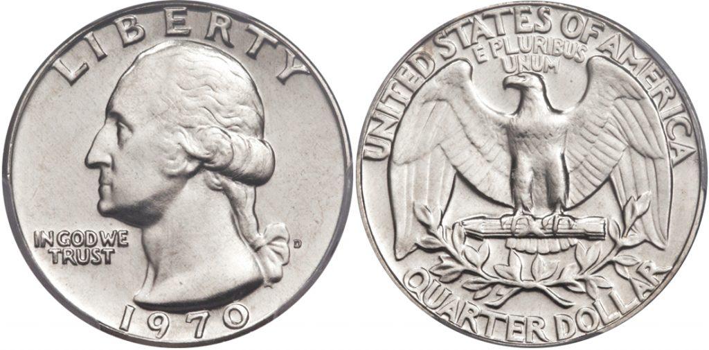 1970 P Washington Quarter Value