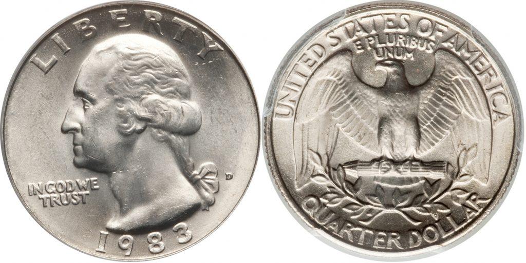 1983 P Washington Quarter Value Coin Help
