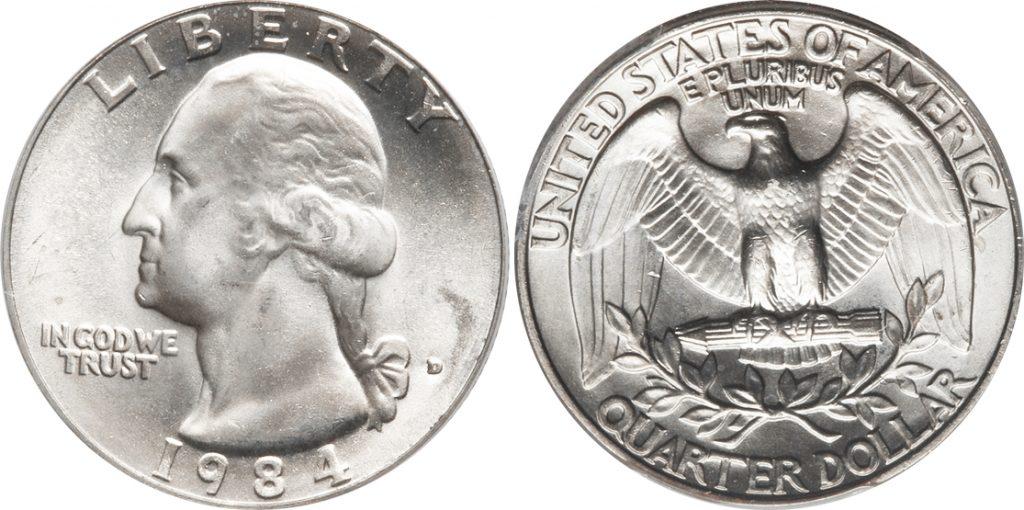 1984-D Washington Quarter Value - CoinHELP