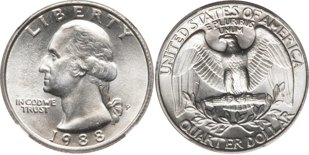 1988-D Washington Quarter Value - CoinHELP