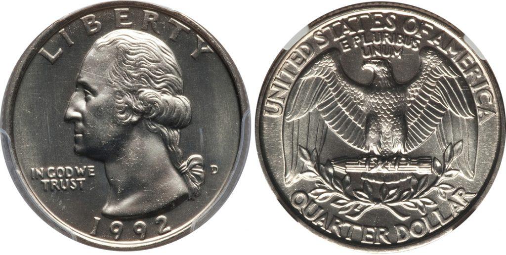 1992 D Washington Quarter Value Coin Help