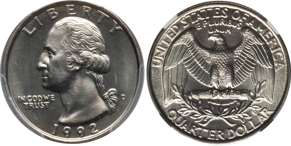 1992 P Washington Quarter Value Coinhelp
