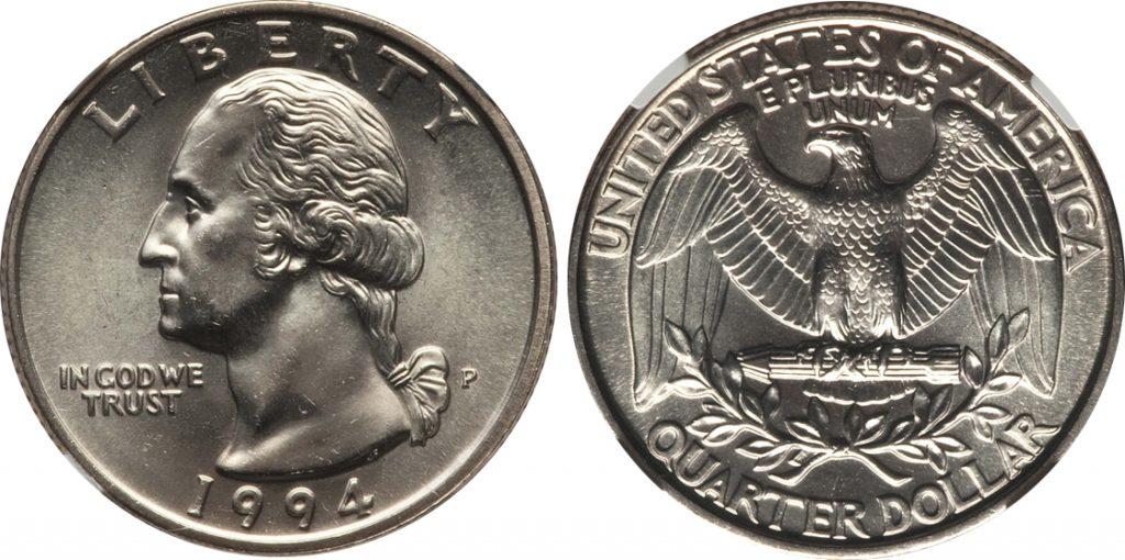 1994 P Washington Quarter Value Coin Help