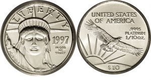 $10 Platinum Eagle Value