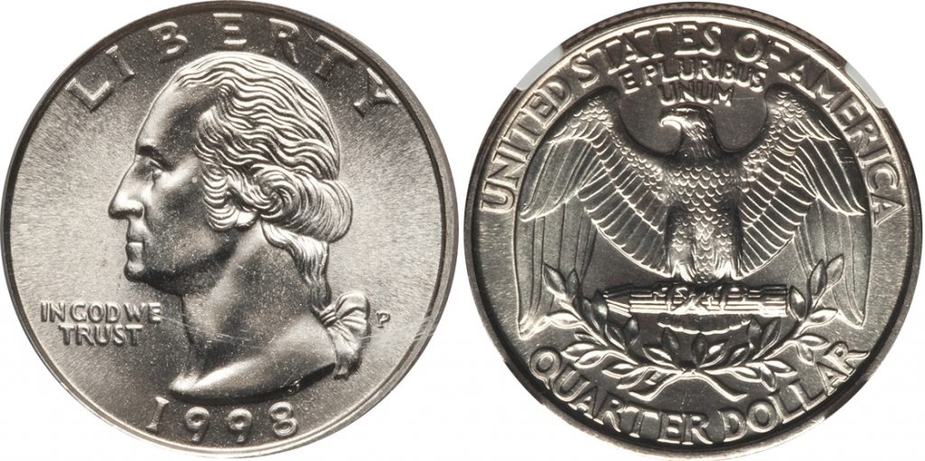 1998 D Washington Quarter Value Coin Help