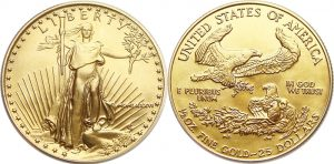 $25 American Gold Eagle Value