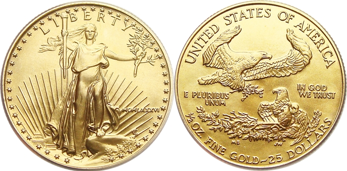 25 American Gold Eagle Value 1 2 Ounce Coin Help