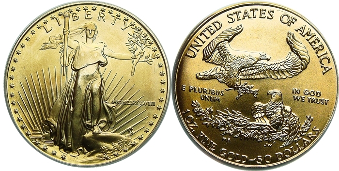 50 American Gold Eagle Value 1 Ounce Coinhelp