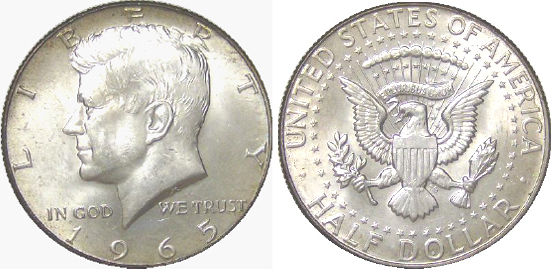1965 Kennedy Half Dollar Value