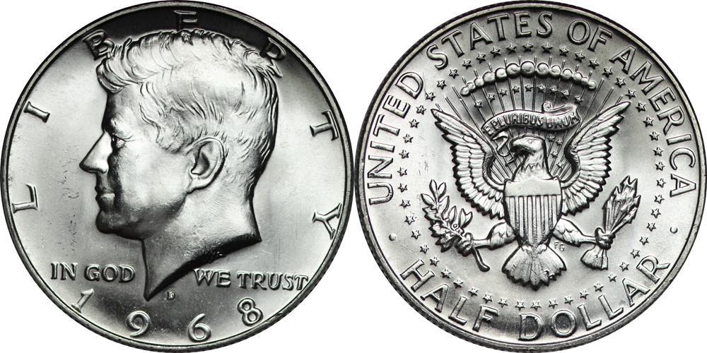 1968-D Kennedy Half Dollar value