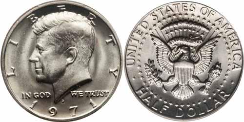 1971 Kennedy Half Dollar Value