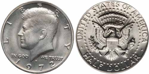 1972 Kennedy Half Dollar Value