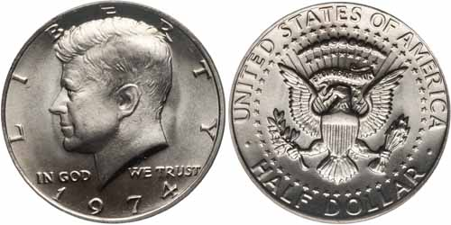 1974 Kennedy Half Dollar Value Coin Help