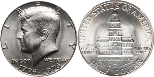 1776 1976 Kennedy Half Dollar Value