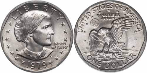 Susan B Anthony Dollar Value 1979 to 1981 (1999) - Coin Values