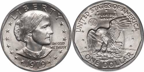 1979 P Susan B Anthony Dollar