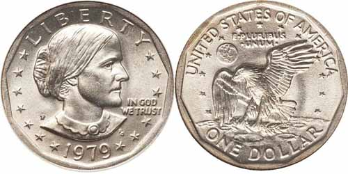 1979 P Susan B Anthony Dollar