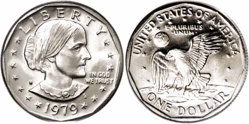 1979 S Susan B Anthony Dollar