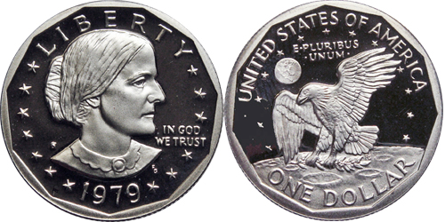 1979 S Proof Susan B Anthony Dollar Value Type 1