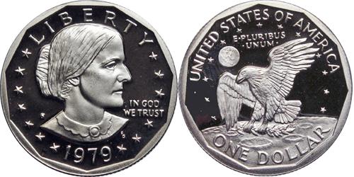 1979 S Proof Susan B Anthony Dollar Value Type 1