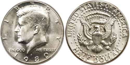 1980 P  Kennedy Half Dollar ~ BU Condition