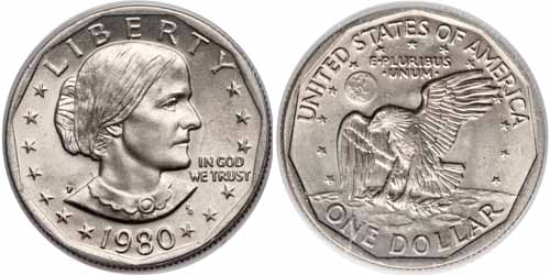 1980 P Susan B Anthony Dollar Value Coin Help