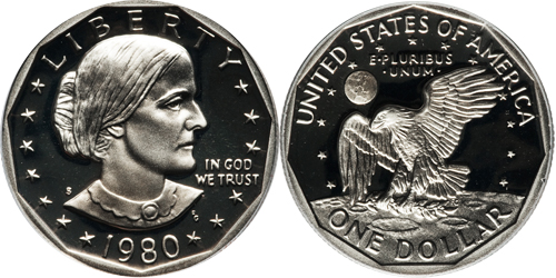 1980 S Proof Susan B Anthony Dollar Value