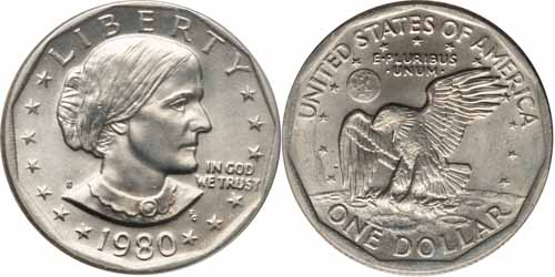 1980 S Susan B Anthony Dollar Value
