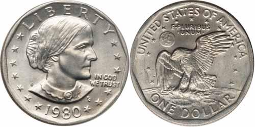 1980 S Susan B Anthony Dollar Value