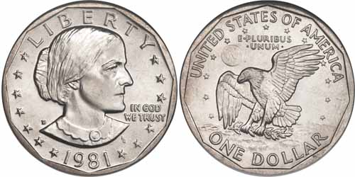 1981 D Susan B Anthony Dollar Value