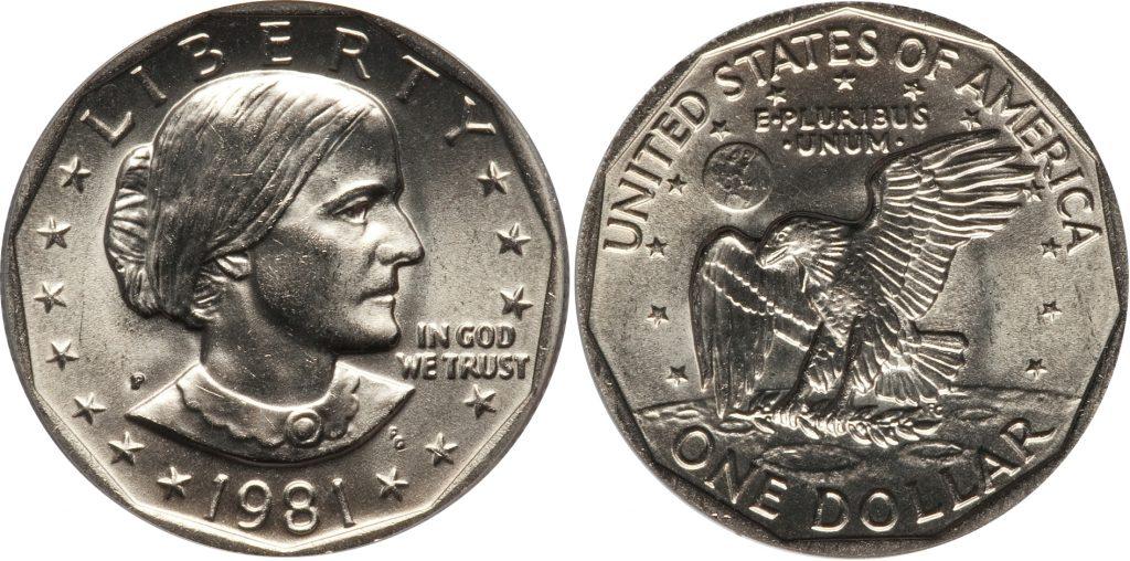 1981 P Susan B Anthony Dollar Value