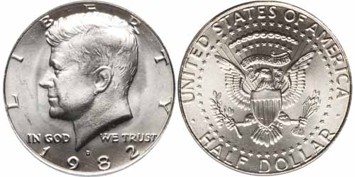 1982 P Kennedy Half Dollar Value Coinhelp