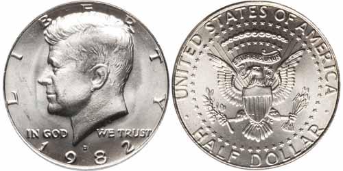1982 P Kennedy Half Dollar Value Coin Help