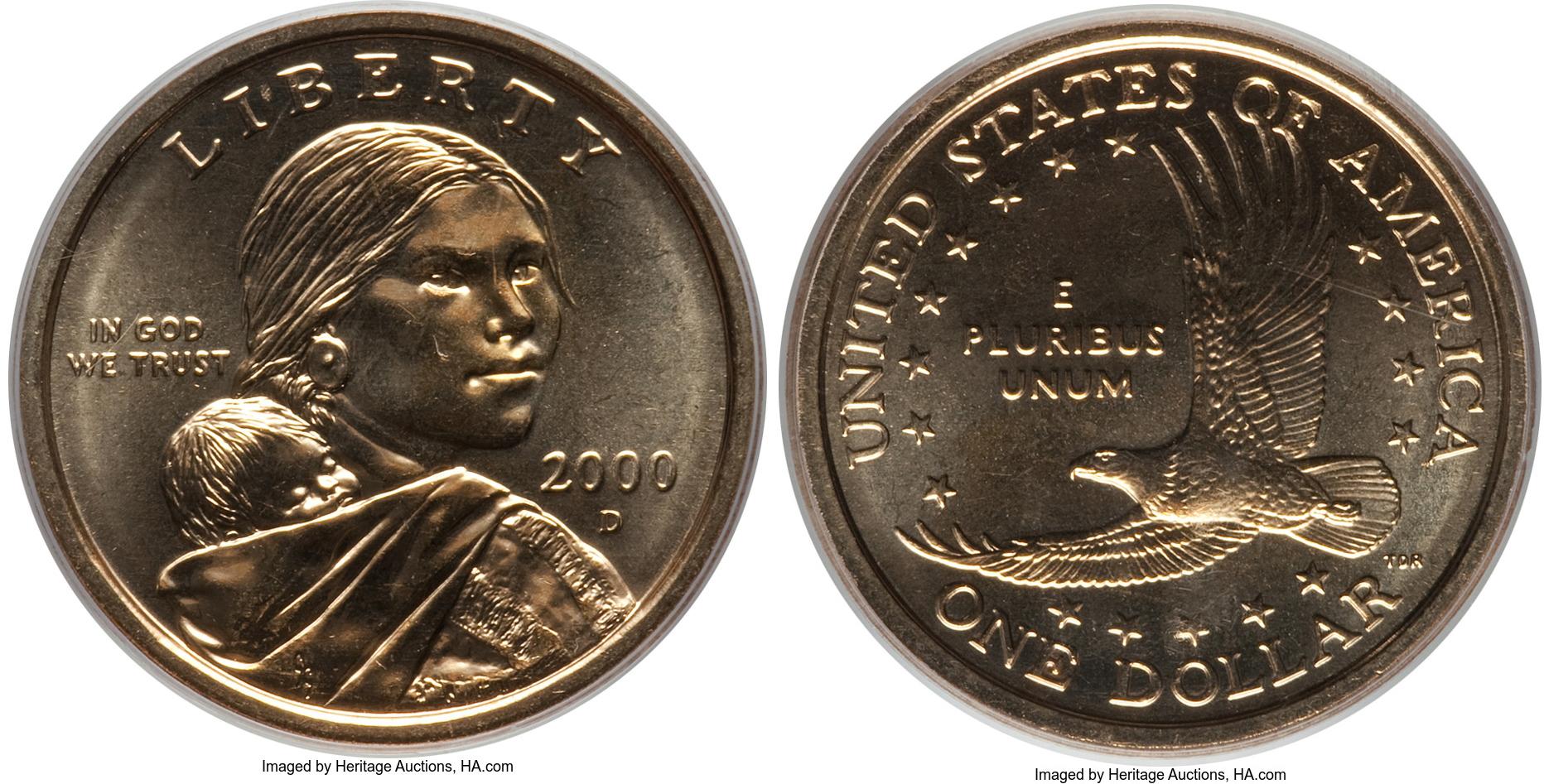 2000 D Sacagawea Dollar Value Coin Help