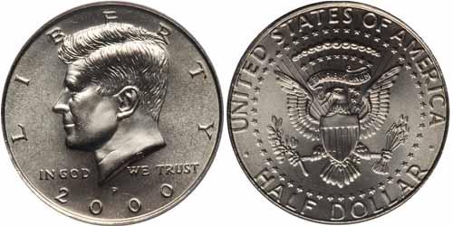 2000 D  Kennedy Half Dollar ~ Nice  BU Condition