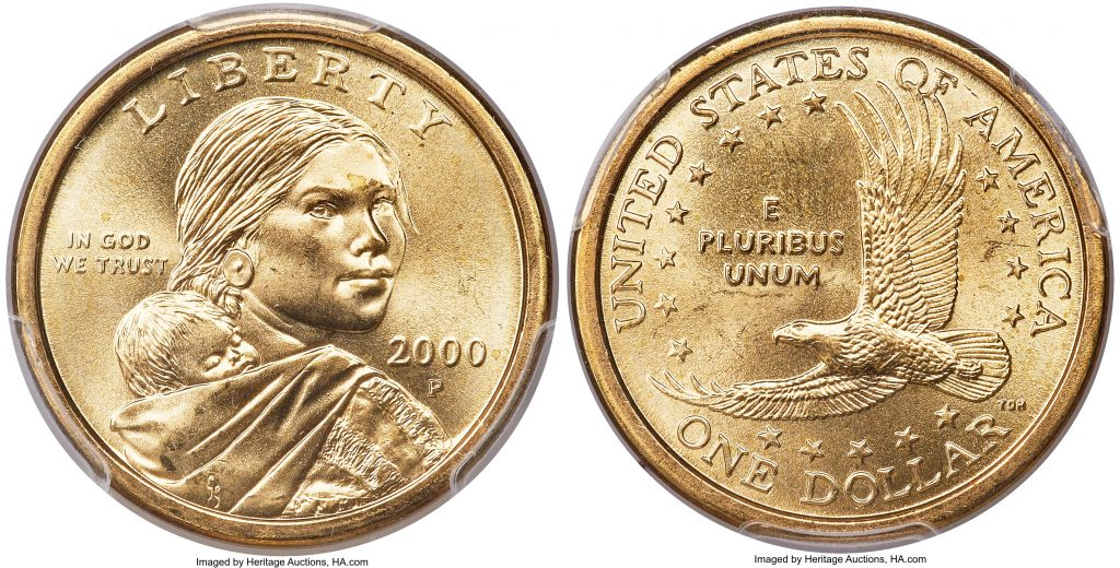 2000 p Sacagawea Dollar Wounded Eagle Value