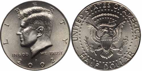 2002 P  Kennedy Half  Dollar