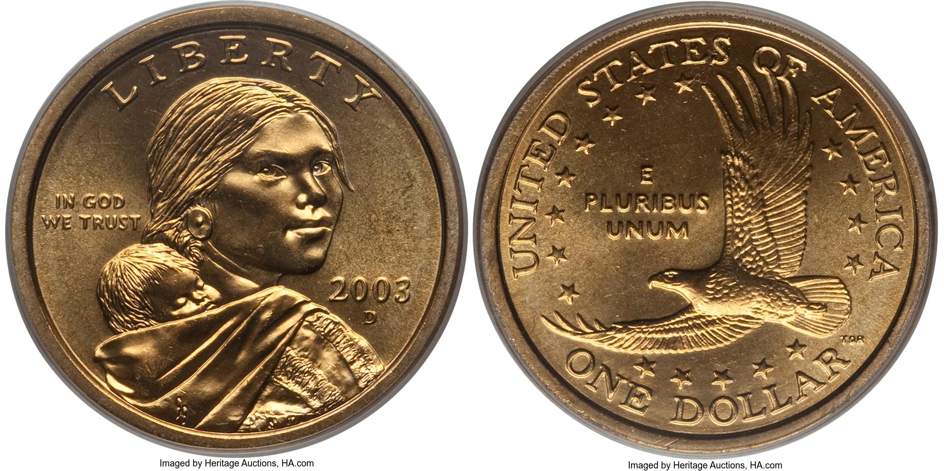 2003 D Sacagawea Dollar Value Coin Helpu