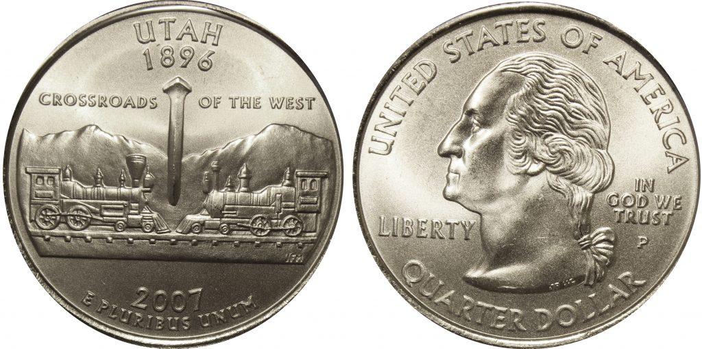 2007 P Utah State Quarter Value Coin Help