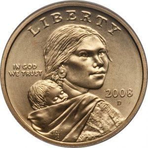 2008 D Sacagawea Dollar Value Coin Helpu