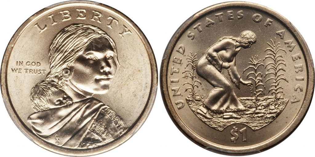 Sacagawea Dollar Position A Position B Edge Lettering