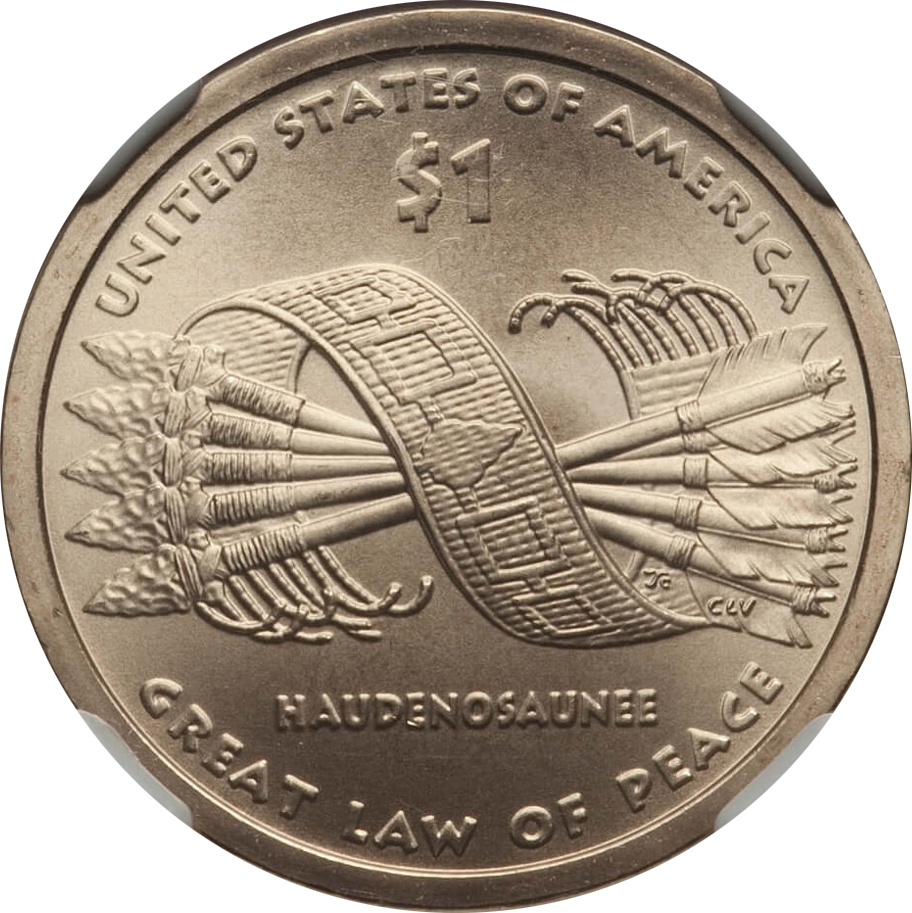 Great Law of Peace 2010 P Native American Sacagawea Dollars