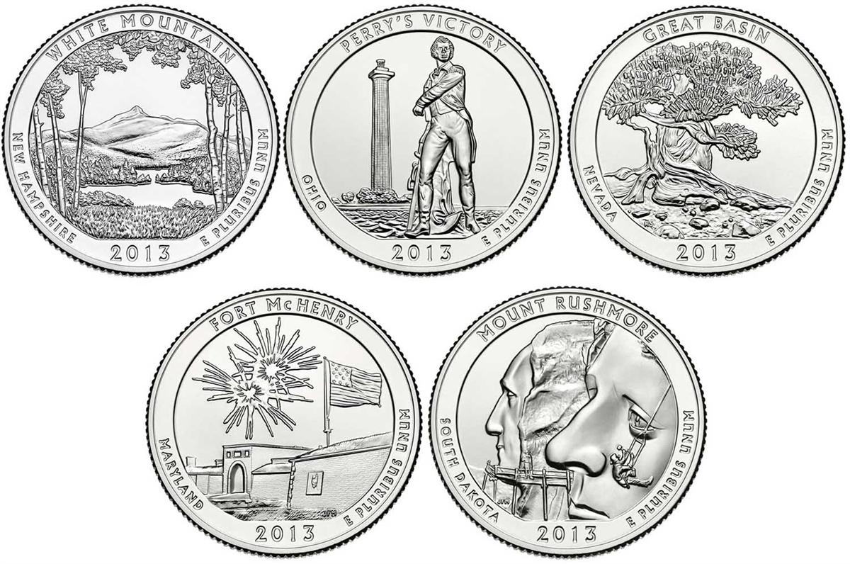 2013 D Mount Rushmore National Memorial Quarter Value