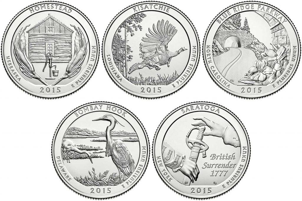2015 P Blue Ridge Parkway Quarter Value