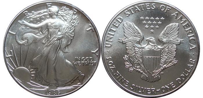 1986 Silver Eagle Value Sae Bullion Coin Price Guide